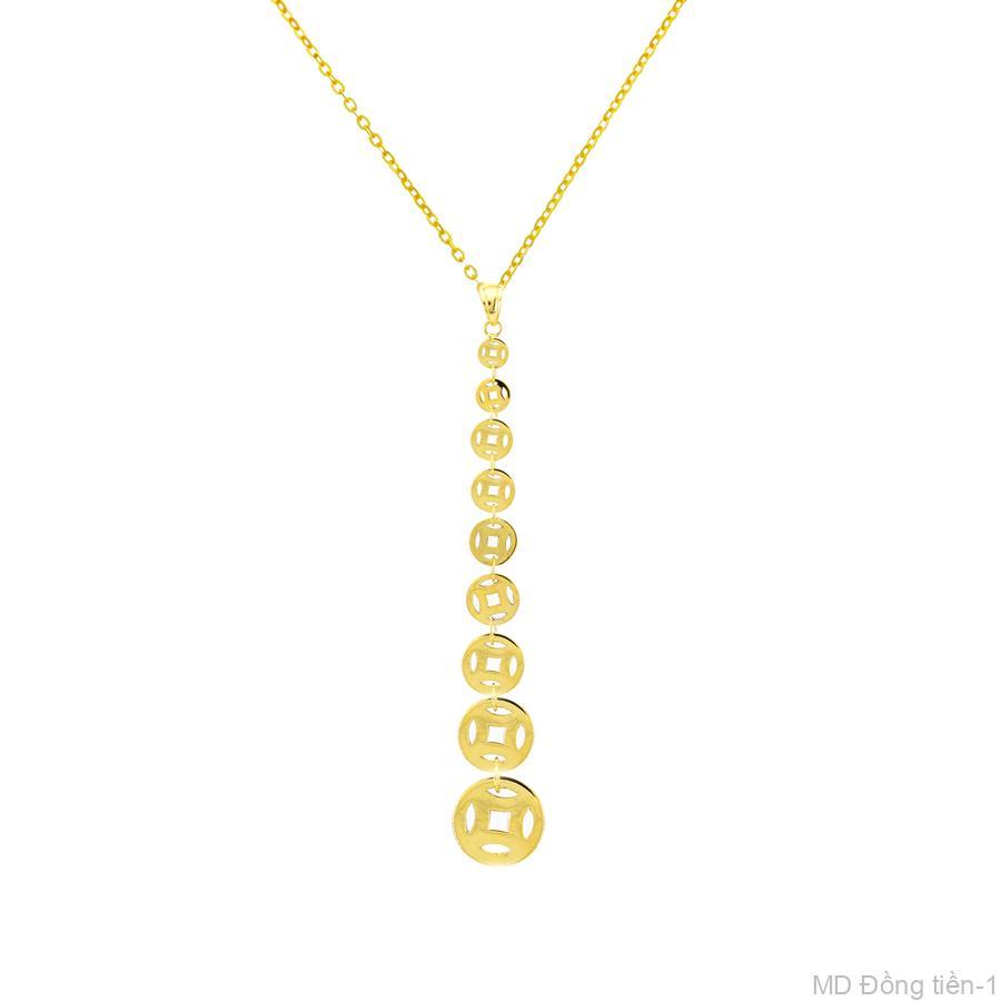 Mặt Nữ Vàng Vàng 18K - MD Đồng tiền-1