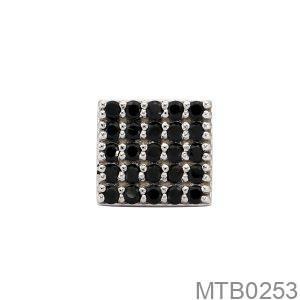 Bông Tai Nam Vàng Trắng 10K - MTB0253