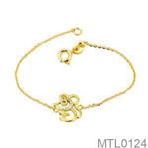 Lắc Tay Trẻ Em Hình Con Chuột Vàng Vàng 18k - MTL0124