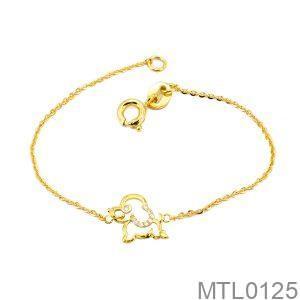 Lắc Tay Trẻ Em Hình Con Chó Vàng Vàng 18k - MTL0125