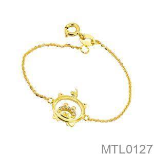 Lắc Tay Trẻ Em Hình Con Heo Vàng Vàng 18K - MTL0127