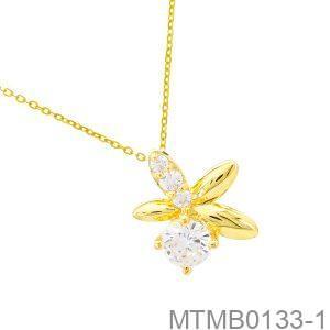 Mặt Nữ Vàng Vàng 18K - MTMB0133-1