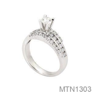 Nhẫn Nữ Vàng Trắng 10K - MTN1303