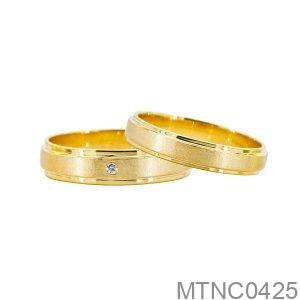 Nhẫn Cưới Vàng Vàng 10K - MTNC0425