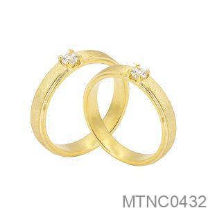 Nhẫn Cưới Vàng Vàng 10K - MTNC0432
