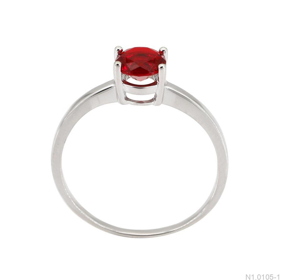 Nhẫn Nữ Vàng Trắng 10K - N1.0105-1