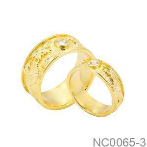 Nhẫn Cưới Vàng Vàng 18K - NC0065-3