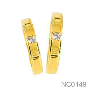 Nhẫn Cưới Vàng Vàng 18K - NC0149