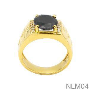 Nhẫn Nam Vàng Vàng 18K Đá Đen - NLM04