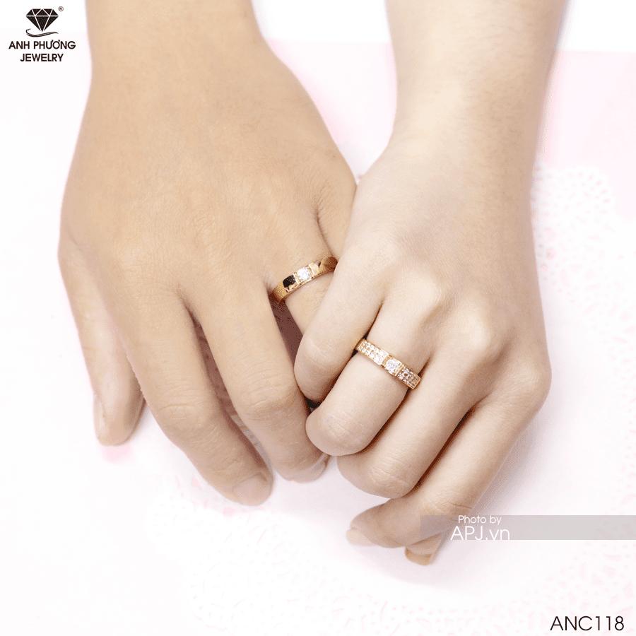 nhẫn cưới vàng vàng 18k