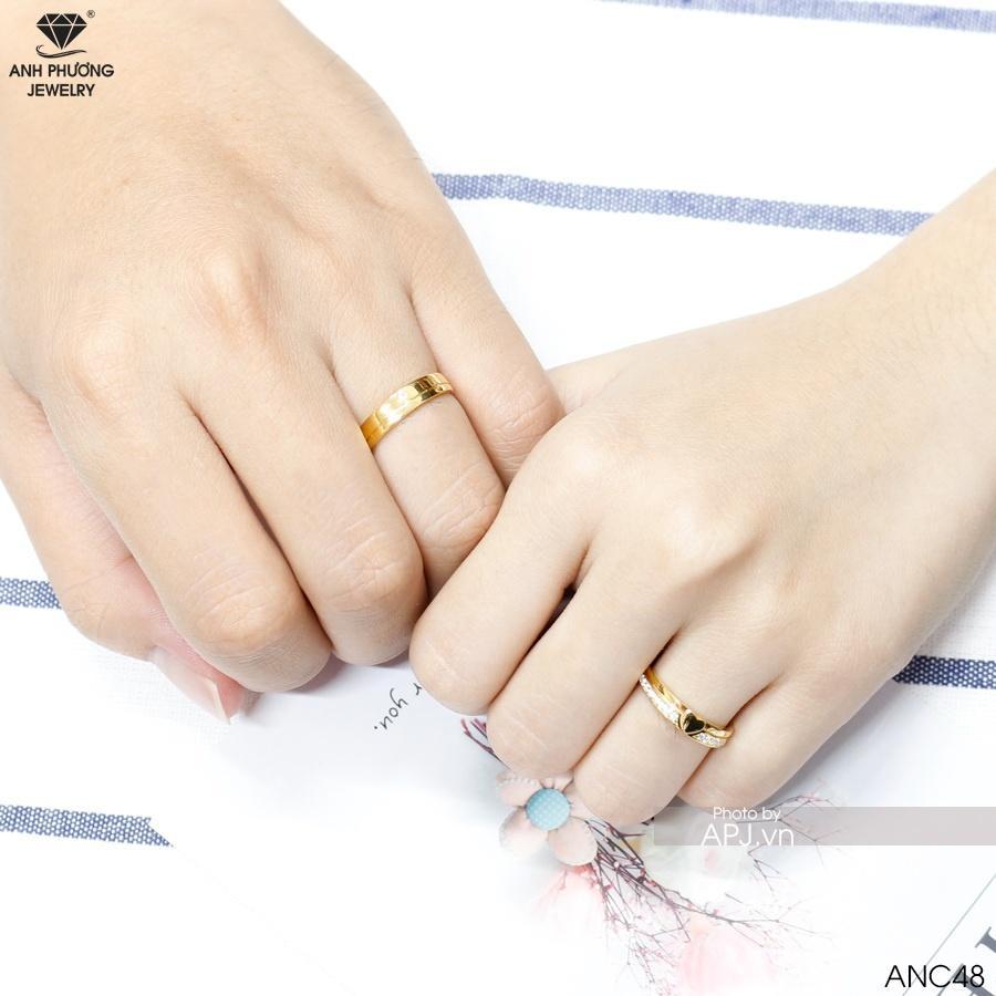 Nhẫn cưới hai màu ANC48