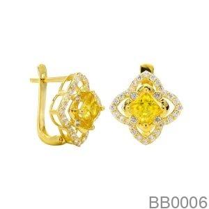 Bông Tai Vàng Vàng 18K - BB0006