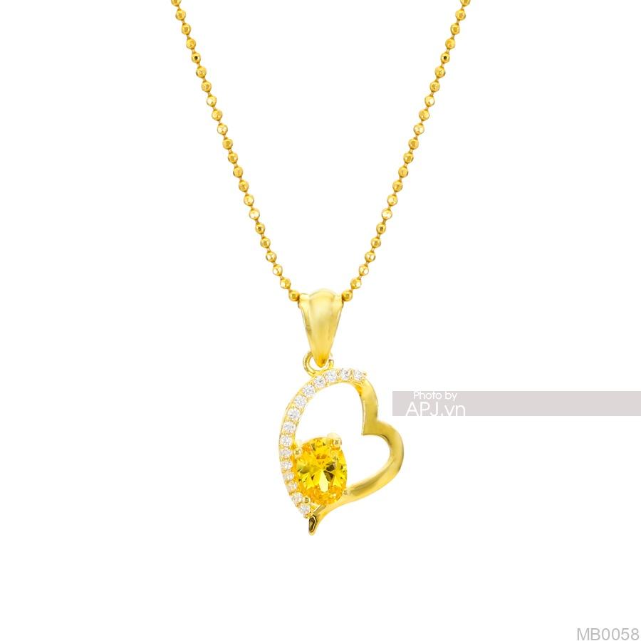 Mặt Nữ Vàng Vàng 18K - MB0058
