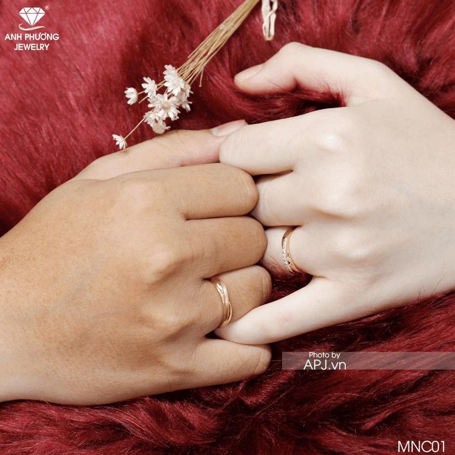 Nhẫn cưới vàng MNC01