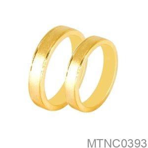 Nhẫn Cưới Vàng Vàng 18K - MTNC0393