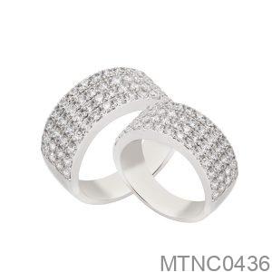 Nhẫn Cưới Vàng Trắng 10K - MTNC0436
