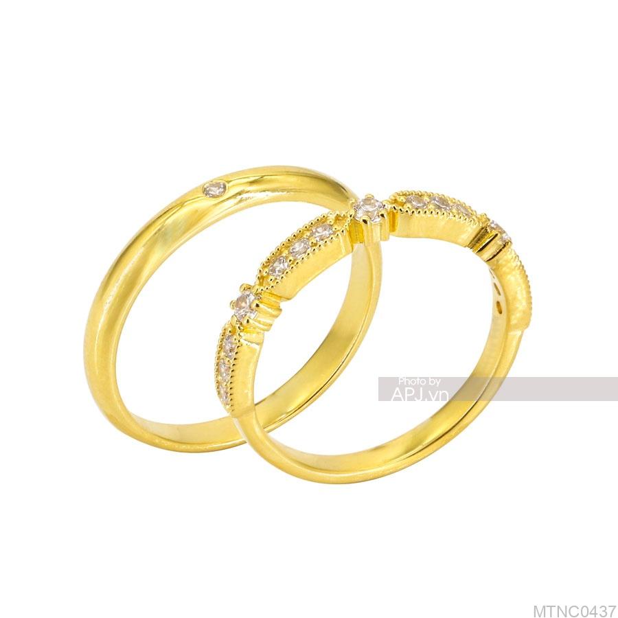 Nhẫn Cưới Vàng Vàng 18K - MTNC0437