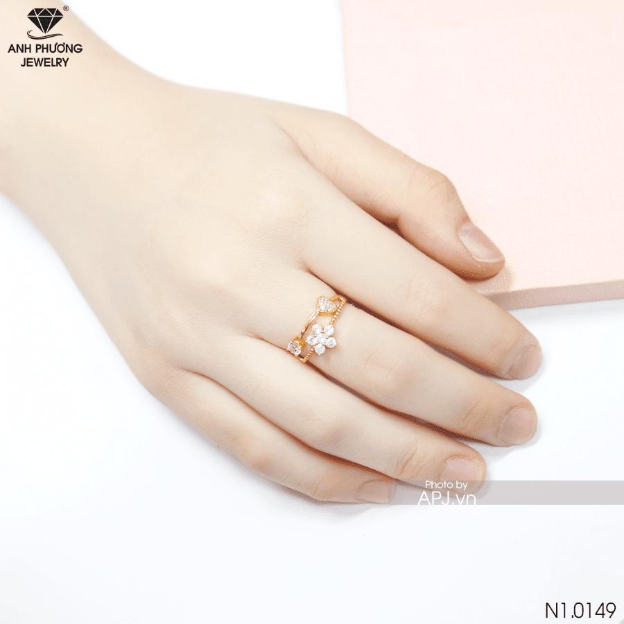 nhẫn nữ vàng vàng 18k