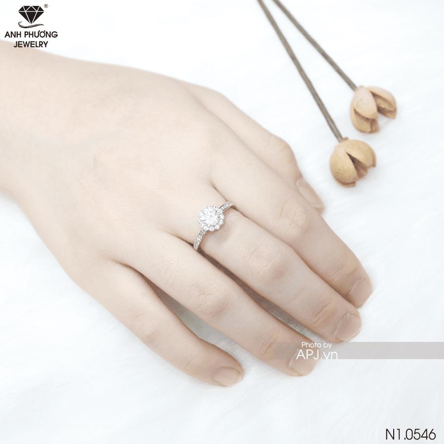 nhẫn nữ vàng trắng 10k