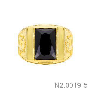 Nhẫn Nam Rồng Vàng Vàng 18K Đá Đen - N2.0019-5