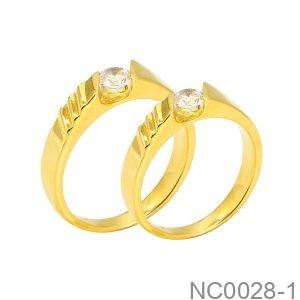 Nhẫn Cưới Vàng Vàng 18K - NC0028-1