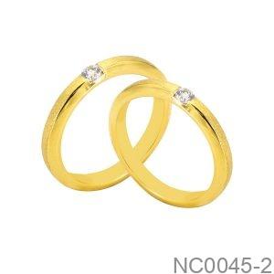 Nhẫn Cưới Vàng Vàng  18K - NC0045-2