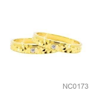 Nhẫn Cưới Vàng Vàng 18K - NC0173
