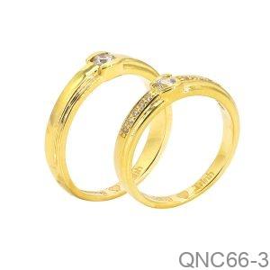 Nhẫn Cưới Vàng Vàng 18K - QNC66-3