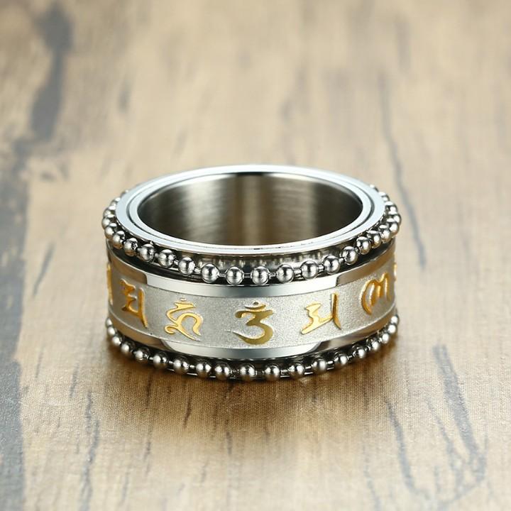 Thiết kế độc đáo của mẫu nhẫn vàng nam xoay