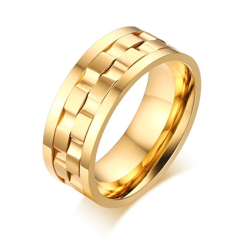 Thiết kế độc đáo của mẫu nhẫn vàng nam xoay 2
