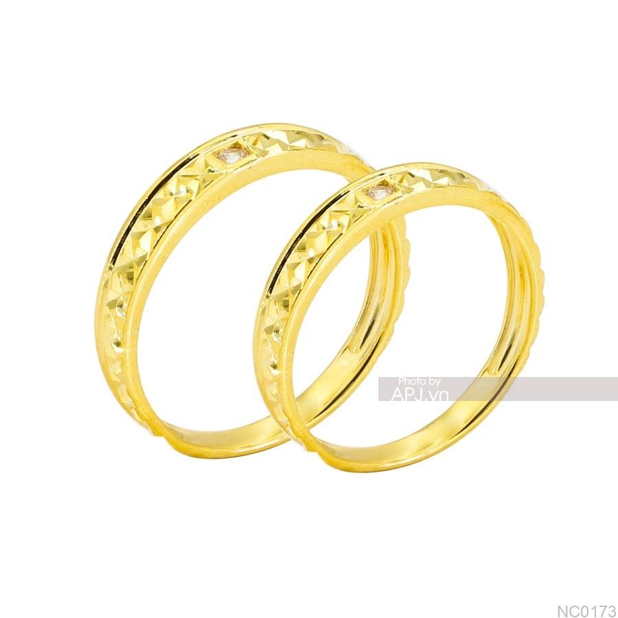 Nhẫn cưới vàng vàng 18K NC0173