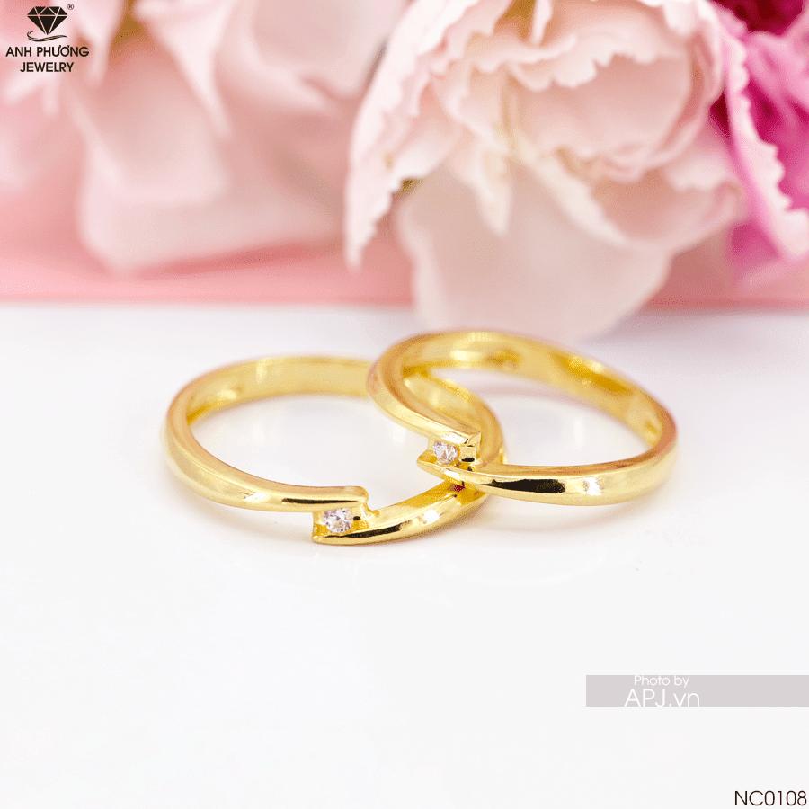 Chọn nhẫn cưới vàng 18K dưới 5 triệu