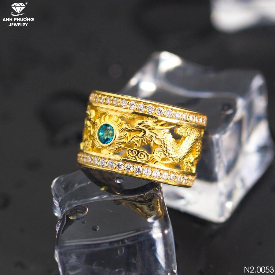 Mẫu nhẫn rồng vàng nam 18k