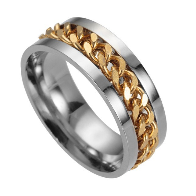 Thiết kế độc đáo của mẫu nhẫn vàng nam xoay 3