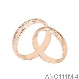 Nhẫn Cưới Vàng Hồng 18K - ANC111M-4