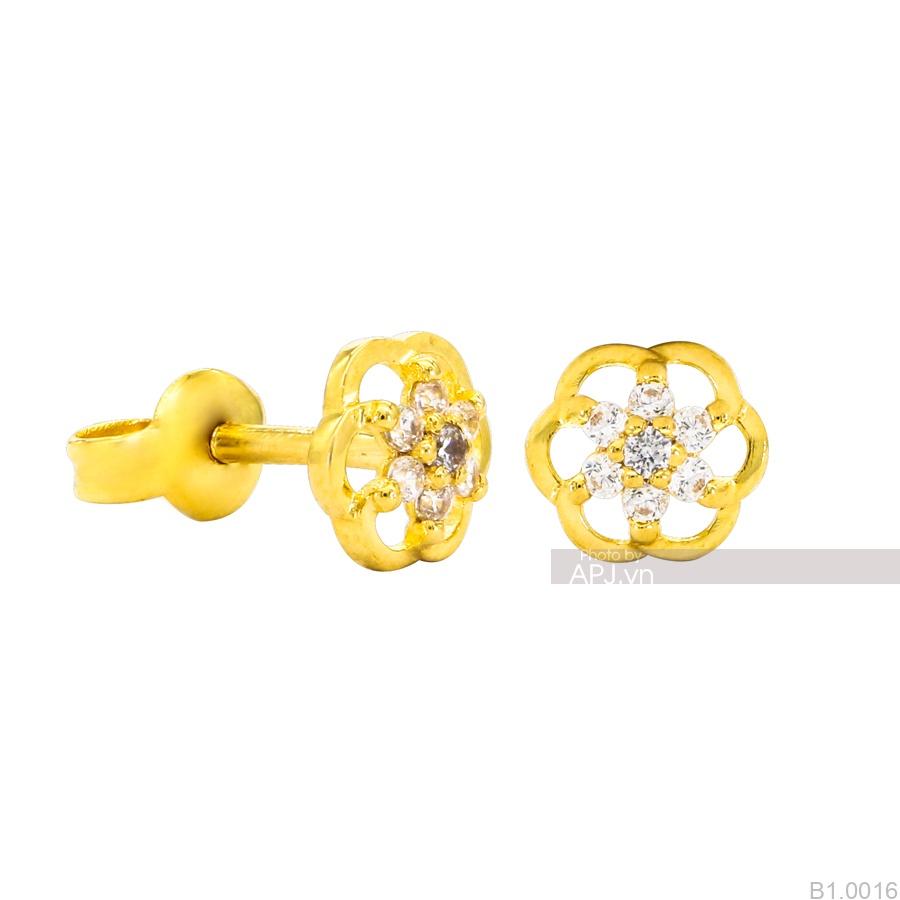Bông Tai Vàng Vàng 18K - B1.0016