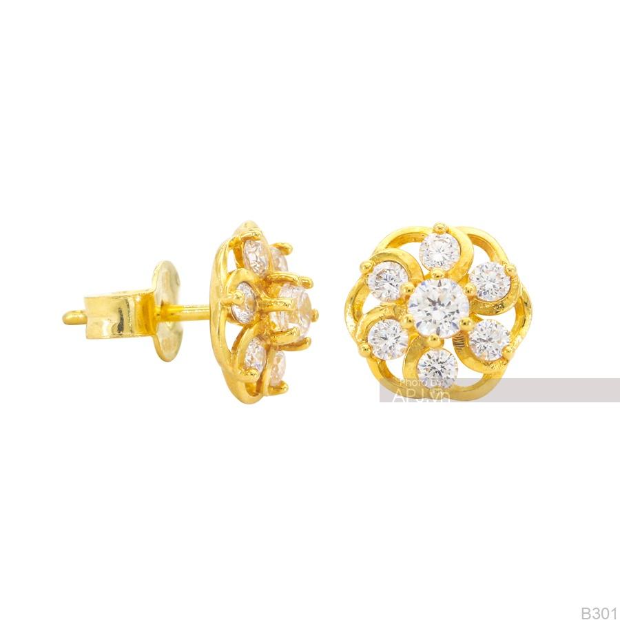Bông Tai Vàng Vàng 18K - B301