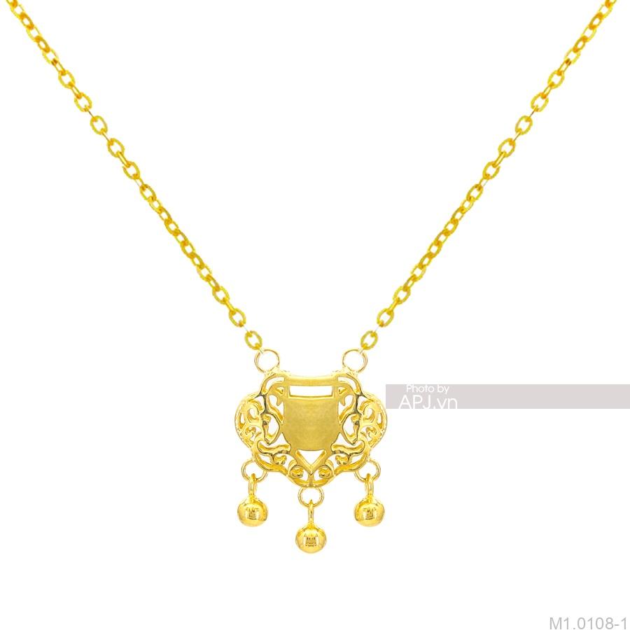 Dây Cổ Trẻ Em Vàng Vàng 18K - M1.0108-1