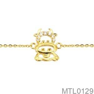 Lắc Tay Trẻ Em Hình Con Trâu Vàng Vàng - MTL0129