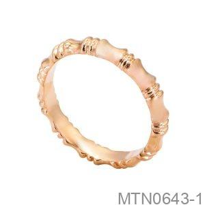 Nhẫn Nữ Vàng Hồng 18K - MTN0643-1