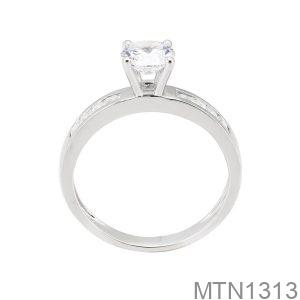 Nhẫn Nữ Vàng Trắng 18K -  MTN1313