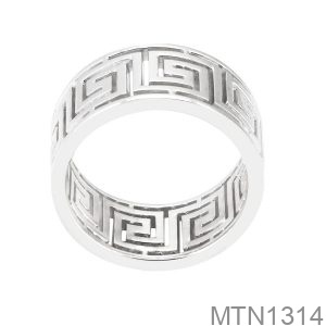 Nhẫn Nam Vàng Trắng 18K - MTN1314