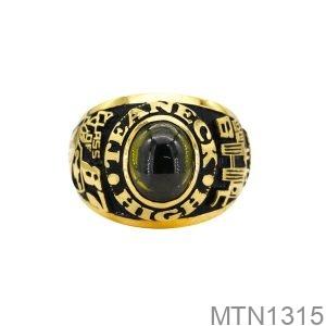 Nhẫn Mỹ Vàng Vàng 10K Đá Xanh Lục- MTN1315