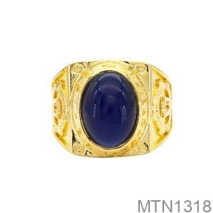 Nhẫn Mỹ Vàng Vàng 18K Đá Xanh Dương- MTN1318