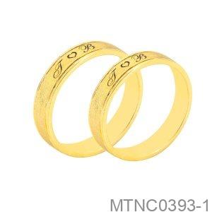 Nhẫn Cưới Vàng Vàng 18K - MTNC0393-1