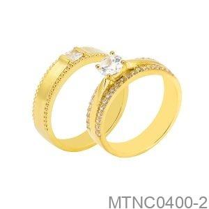 Nhẫn Cưới Vàng Vàng 18K -  MTNC0400-2