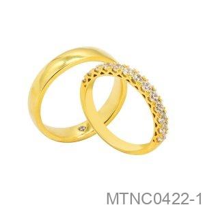 Nhẫn Cưới Vàng Vàng 18K - MTNC0422-1