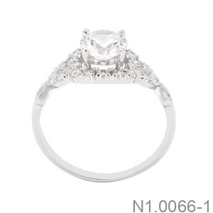 Nhẫn Nữ Vàng Trắng 10K - N1.0066-1