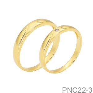 Nhẫn Cưới Vàng Vàng 18K - PNC22-3
