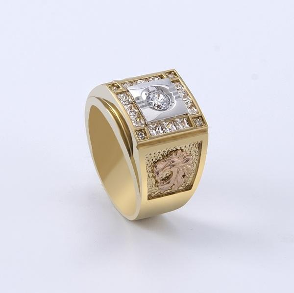nhẫn vàng nam 18k mặt đá